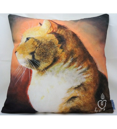 Throw Pillow Cover The Cat