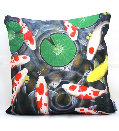 Throw Pillow Cover Peaceful Koi
