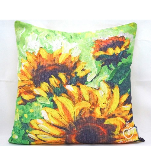 Throw Pillow Cover sun flower